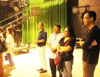 ABS-CBN studio tour of VU DBA students (Quezon City)