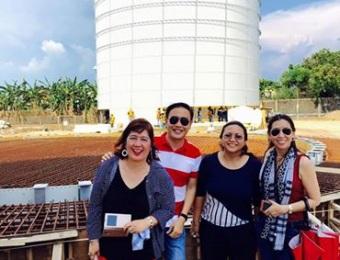 Aseagas company visit with Project Management Professor Antonio Rivera (Lian, Batangas)
