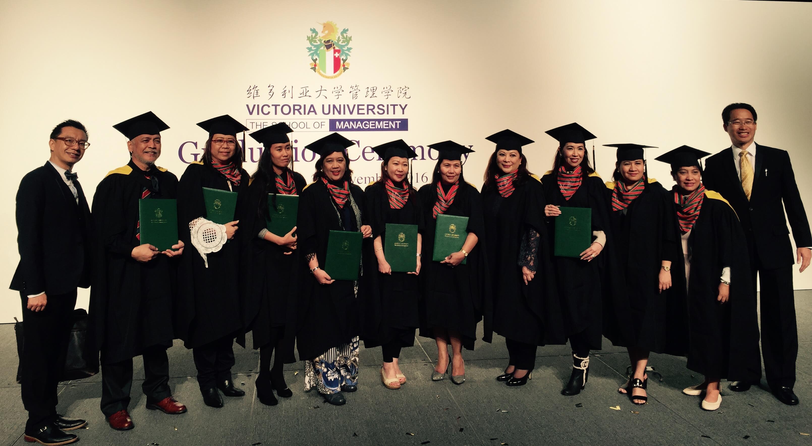 Philippine Cohort of Victoria University MBA Program Graduates in Hong Kong